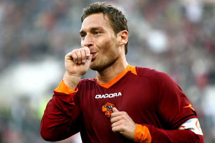 Photo: Roma captain and icon Francesco Totti (Courtesy Forzaitalianfootball.com)