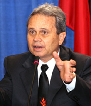 Photo: New Minister of Finance Colm Imbert.
