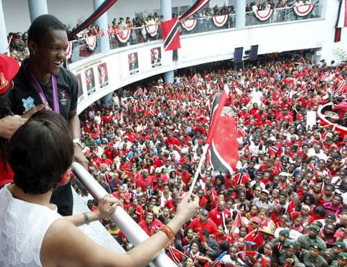 Photo: The Trinidad and Tobago Government feted gold medalist Keshorn Walcott on his return from the London 2012 Olympics.