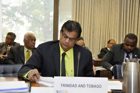 Photo: Trinidad and Tobago Health Minister Dr Fuad Khan: as useful as a winter jacket at Maracas Bay. (Courtesy PAHO.org)