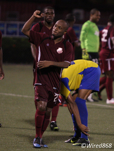 Photo: North East Stars right back Kennedy Hinkson has been his team's most consistent performer this season. (Courtesy Wired868)