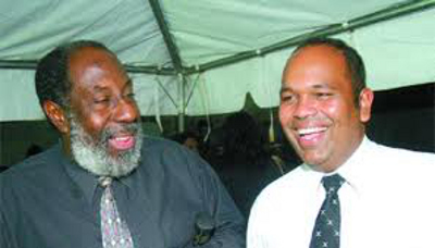 Photo: Former TTFF general secretary Richard Groden (left) and Jack Warner's attorney Om Lalla in happier times.