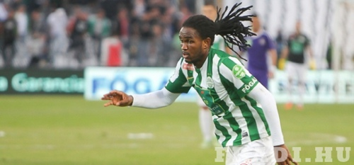 Photo: Akeem Adams in action for Ferencvarosi. (Courtesy www.fradi.hu)