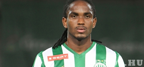 Photo: Ferencvarosi and Trinidad and Tobago left back Akeem Adams. (Courtesy www.fradi.hu)