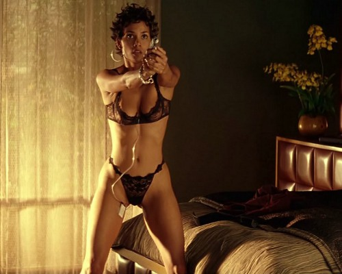 Photo: A photo of US actress Halle Berry in lingerie is about as relevant to the war on terror as a photo of a bikini-clad Asha Javeed is to... Wait, what was the topic again?