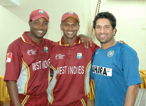 Photo: Cricket icons (from left) Brian Lara, Shivnarine Chanderpaul and Sachin Tendulkar.