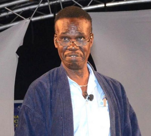 Photo: Comedian Learie Joseph reacts to news that Mr Live Wire is trying on one of his sketches.