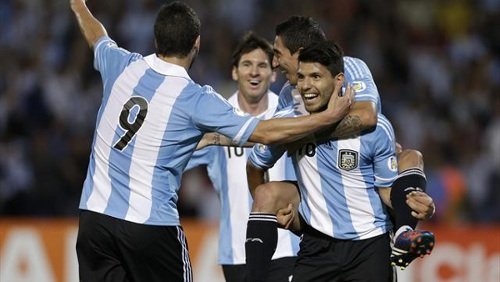 Photo: Argentine's gifted attacking quartet of (from left) Gonzalo Higuain, Lionel Messi, Angel Di Maria and Sergio Aguero is probably the most formidable offensive line-up in football today. (Courtesy Yahoo)