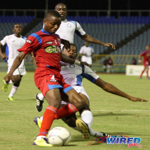 Photo: St Ann's Rangers lost its captain, Clevon McFee, to Police FC in mid-season. (Courtesy Wired868)