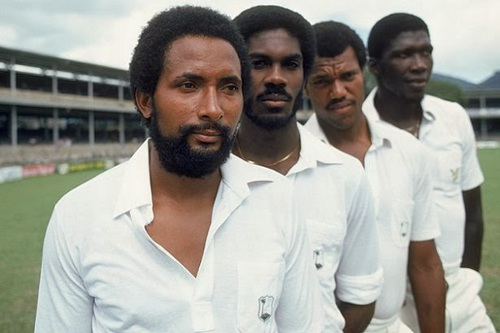 Photo: Pace like fire! The legendary West Indies cricket pace quartet of (from left) Andy Roberts, Michael Holding, Colin Croft and Joel Garner.