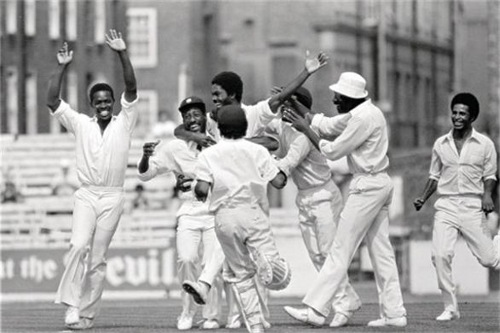 Photo: The West Indies cricket team celebrates one of many successes under then captain Clive Lloyd.