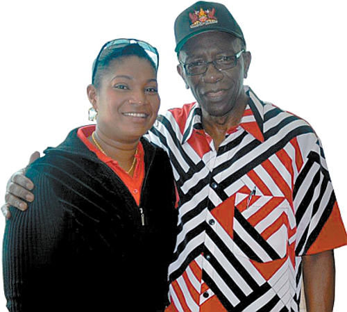 Photo: LifeSport director Ruth Marchan (right) has turned to Chaguanas West MP Jack Warner for help. If Warner is the answer, Mr Live Wire does not want to hear the question.