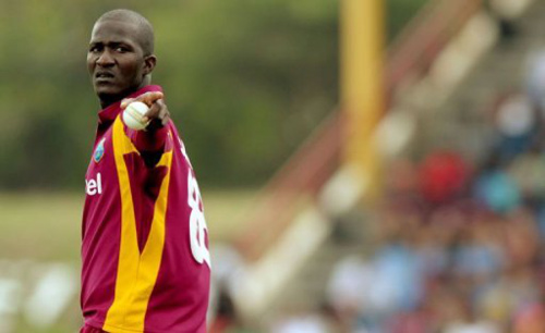 Photo: West Indies T20 captain Darren Sammy makes a point.