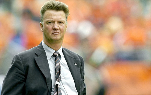 Photo: Manchester United manager Louis Van Gaal led AZ to the Eredivisie title in 2008.