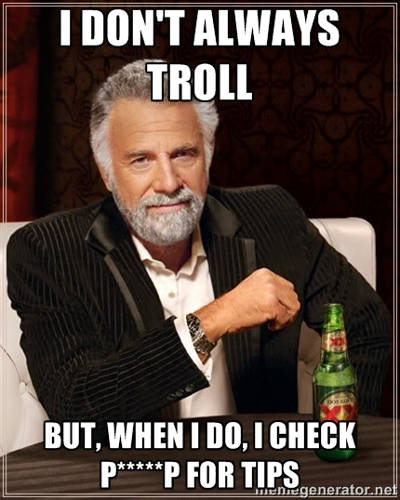 Photo: Internet trolling 101.