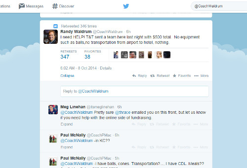Photo: Trinidad and Tobago national women's team coach Randy Waldrum took to Twitter this morning.