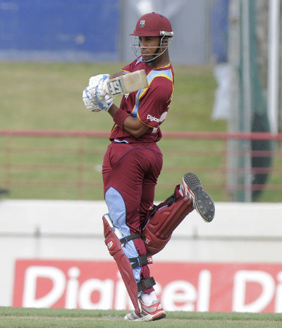 Photo: West Indies and Trinidad and Tobago cricketer Lendl Simmons on the pull during a one-day affair. (Copyright AFP 2015)