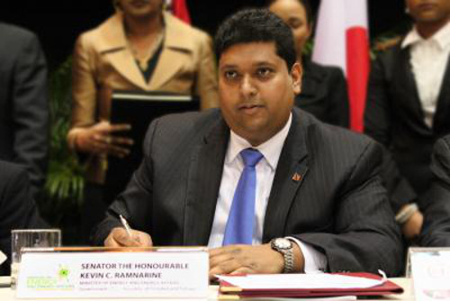 Photo: Energy Minister Kevin Ramnarine.