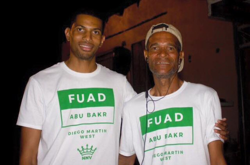 Photo: NNV political leader Fuad Abu Bakr (left).