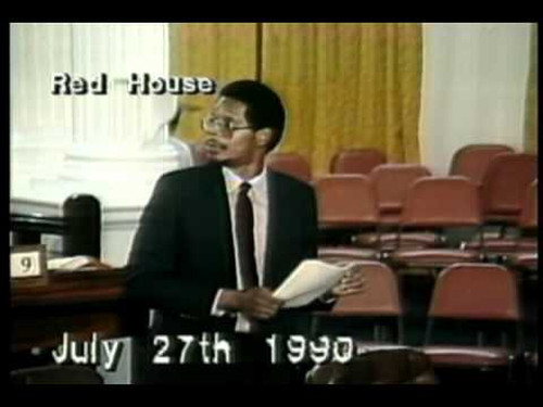 Photo: Former NAR National Security Minister and Toco/Manzanilla MP Joseph Toney in Parliament on July 27, 1990.