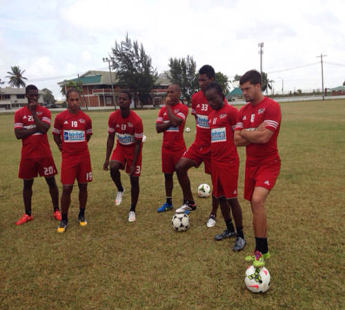 Photo: Trinidad and Tobago and Central FC player Sean De Silva (far right).