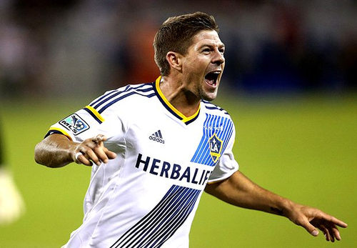 Photo: LA Galaxy midfielder and former England international and Liverpool legend Steven Gerrard.