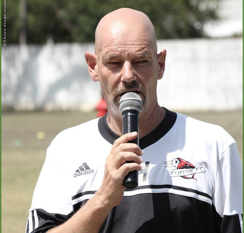 Photo: Central FC operations manager Kevin Harrison is also the former Advisor to ex-Sport Minister Brent Sancho. (Copyright Lime.TT)