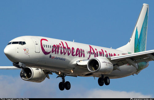 Photo: A Caribbean Airlines plane prepares to land. (Copyright Lyndon Thorley/Planespotters.net)