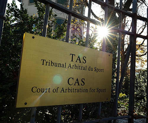 Photo: The entrance to the Court of Arbitration for Sport (CAS) in Switzerland. (Courtesy Inside The Games)