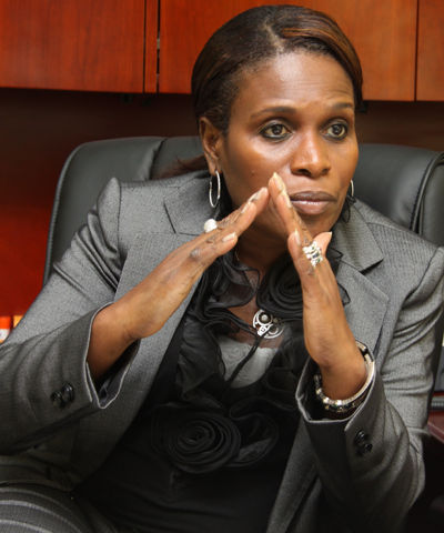 Photo: HDC chairman Jearlean John. (Copyright Trinidad Guardian)