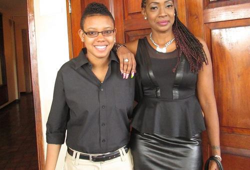 Photo: Shannon Gomes (left) poses with a friend. (Courtesy Facebook)