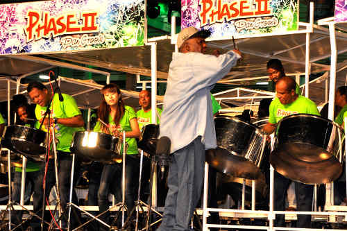 Photo: The Phase II Pan Groove steelpan performs during the 2016 Panorama semifinals. (Copyright Socanews)