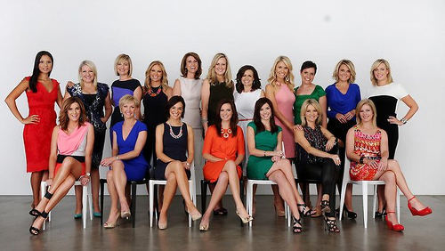 """Photo: The Sunday Telegraph invited Australia's """"top 18 female television personalities"""" for a photo shoot. (Copyright News.Com.Au)"""