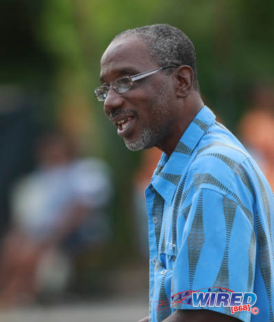 Photo: Trinidad and Tobago Football Association (TTFA) vice-president and ex-SSFL president Ewing Davis does match commissioner duties during 2015/16 CNG National Super League Premiership Division action at the Matura Recreation Ground. (Courtesy Nicholas Bhajan/Wired868)