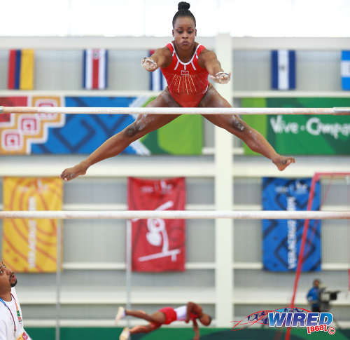 Photo: Trinidad and Tobago gymnast Thema Williams performs at the Toronto 2015 Pan American Games. Williams is in line to be Trinidad and Tobago's first gymnast to perform at an Olympic Games. (Courtesy Allan V Crane/Wired868)