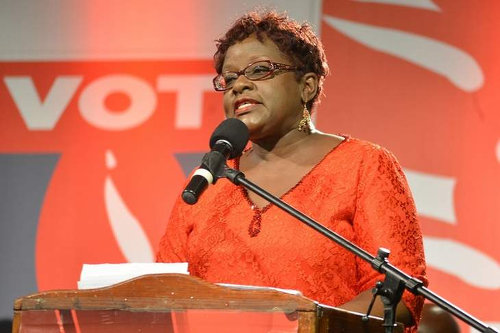 Photo: Planning Minister Camille Robinson-Regis. (Courtesy PNM)