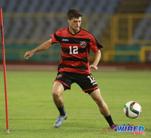 Photo: Central FC midfielder Sean De Silva trains with the Trinidad and Tobago National Senior Team in November 2015. (Courtesy Nicholas Bhajan/Wired868)