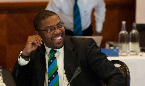 Photo: Having a laugh. West Indies Cricket Board (WICB) president Dave Cameron is unmoved by recent criticisms. (Copyright CaribbeanNewsService)