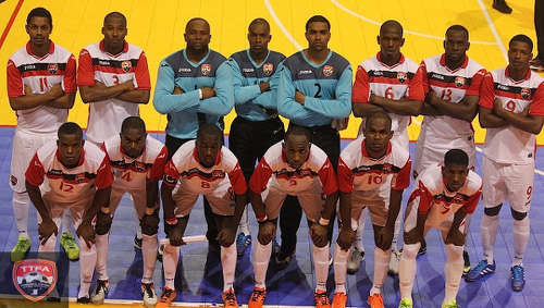 Photo: The Trinidad and Tobago National Futsal Team poses for a photograph before their CONCACAF Play Off match against Honduras in May 2016. (Courtesy TTFA Media)