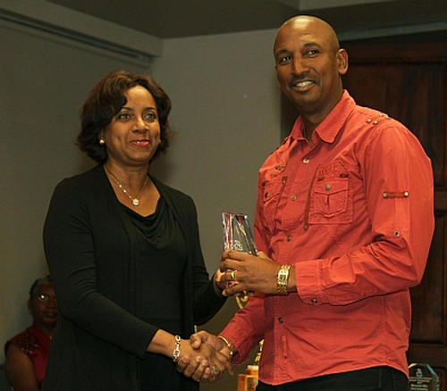 Photo: Trinidad and Tobago Cycling Federation (TTCF) president Robert Farrier (right) and general secretary Jacqueline Corbin. (Copyright Trinidad Guardian)