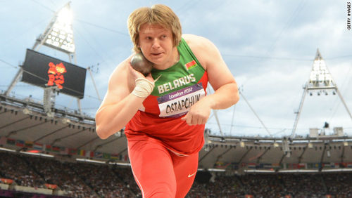 Photo: Belarus shot putter Nadzeya Ostapchuk was stripped of her London 2012 Olympics gold medal after testing positive for performance enhancing drugs. (Copyright CNN)