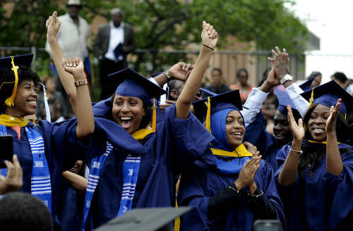 Photo: A graduation ceremony at Howard University in the United States. (Copyright Freddie Allen/NNPA)