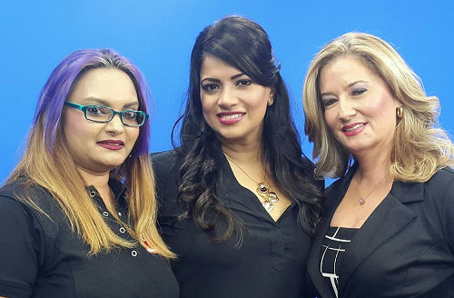 Photo: CNC3 staffers (from left) Rhondor Dowlat, Shelly Dass-Clarke and Francesca Hawkins.