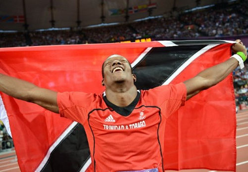 Photo: Trinidad and Tobago's Keshorn Walcott celebrates after securing gold at the London 2012 Olympic Games. (Copyright AFP 2016)