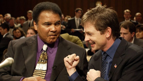 Photo: Late former global boxing icon Muhammad Ali (left) and United States actor Michael J Fox both suffered from Parkinson's Disease. (Copyright Rolling Stone)