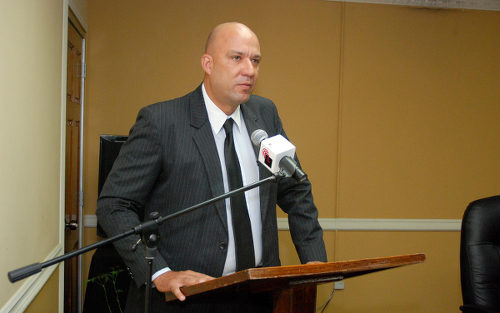 Photo: You get land! Your get land! You get land... Former CDA chairman Daniel Solomon.