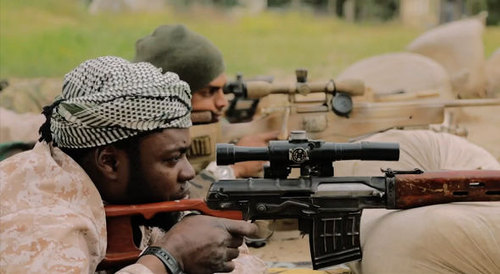 Photo: A terrorist group trains for war. (Copyright Express.co.uk)
