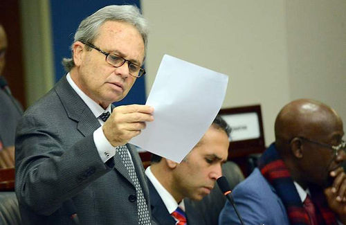 Photo: Finance Minister Colm Imbert. (Copyright WEFM)
