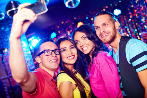 Photo: Partygoers capture the moment with a selfie. (Copyright Radioactiva)