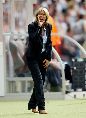Photo: Former Canada coach Carolina Morace during the 2011 Women's World Cup. (Copyright Zimbio)